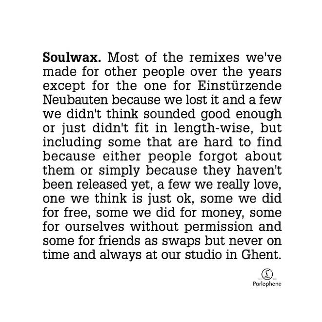 Soulwax - Most of the remixes we've made for other people album cover