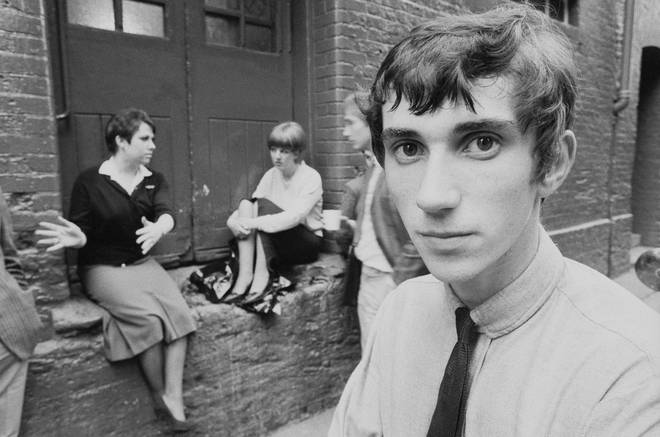 Phil Daniels on the set of Quadrophenia