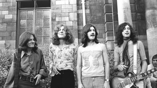 Led Zeppelin do their unspeakable thing at the 1969 Bath Festival: John Paul Jones, Robert Plant, John Bonham, Jimmy Page