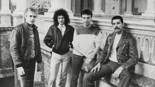 Queen in 1982: Roger Taylor Brian May John Deacon And Freddie Mercury.