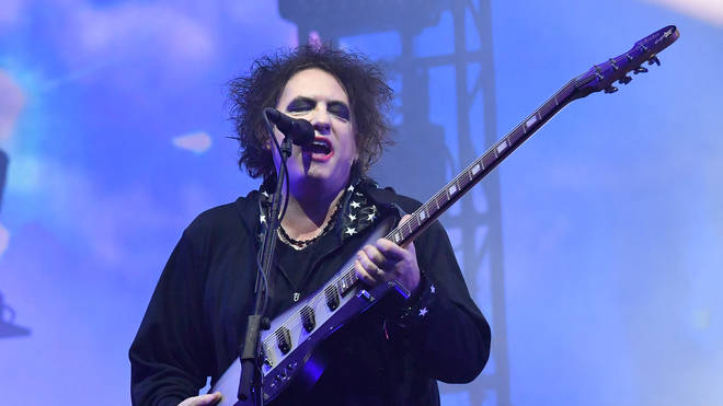 Robert Smith of The Cure at Glastonbury, June 2019