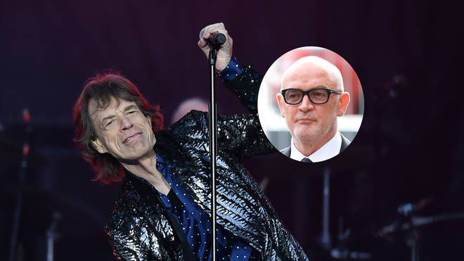 The Rolling Stones' Mick Jagger and former Coronation Street actor Connor McIntyre (inset)