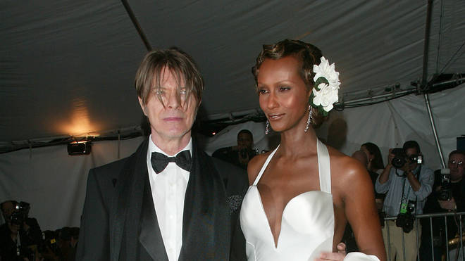 David Bowie and Iman at the Met Gala in 2003