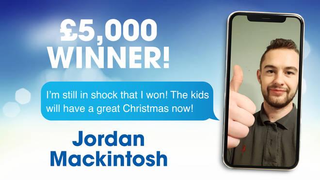 £5,000 winner Jordan