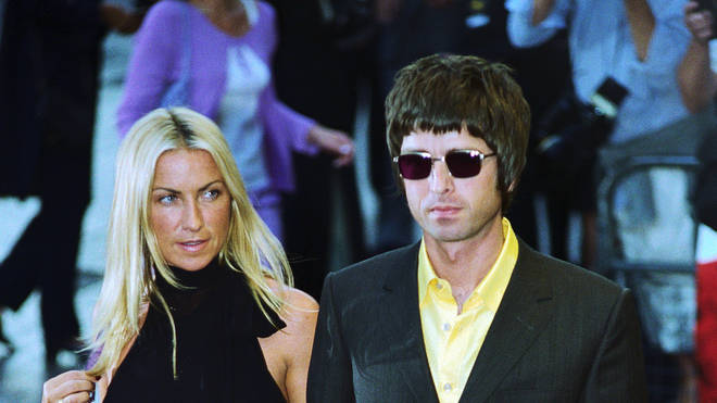 Meg Matthews and Noel Gallagher at the Premiere of Snatch