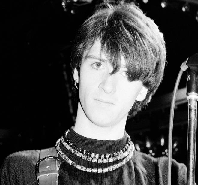 Johnny Marr onstage with The Smiths, March 1984