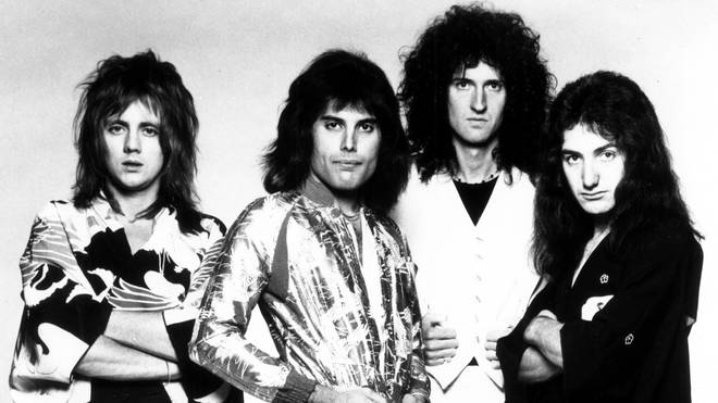 Queen in 1975: Roger Taylor, Freddie Mercury, Brian May and John Deacon