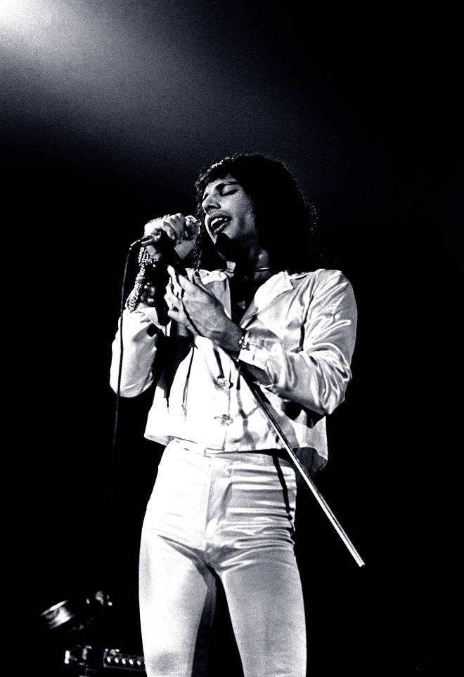 Queen in concert at the New Theatre, Oxford, November 1974