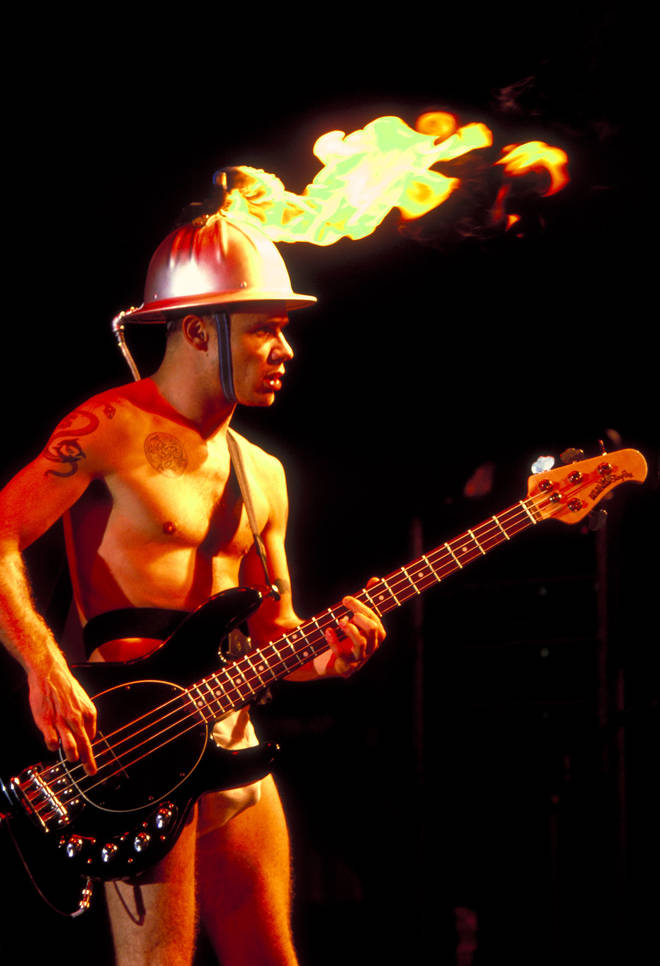 Flea of the Red Hot Chili Peppers at the Waterloo in Stanhope, New Jersey, 1991