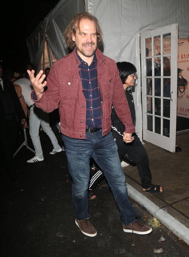 Stranger Things actor David Harbour and Lily Allen at Heidi Klum's Halloween Party