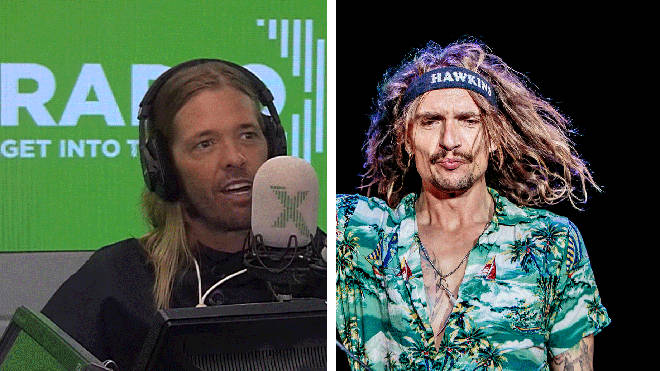 Foo Fighters' Taylor Hawkins and The Darkness frontman Justin Hawkins