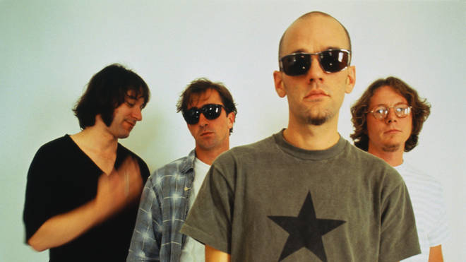 Peter Buck, Bill Berry, Michael Stipe and Mike Mills of R.E.M., 1994