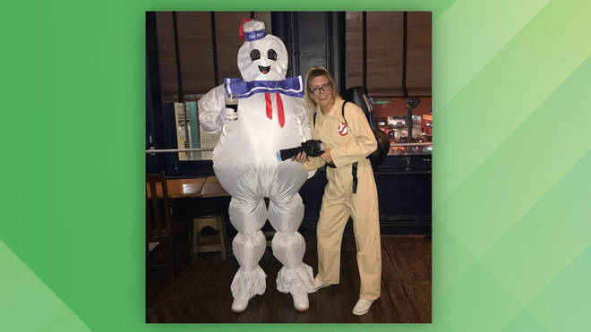 Pippa and Toby dress up for his birthday as a Ghostbuster and the Stay Puft Marshmallow Man