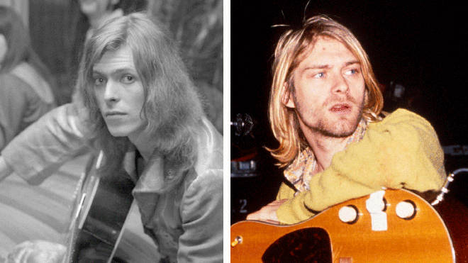 David Bowie and Kurt Cobain