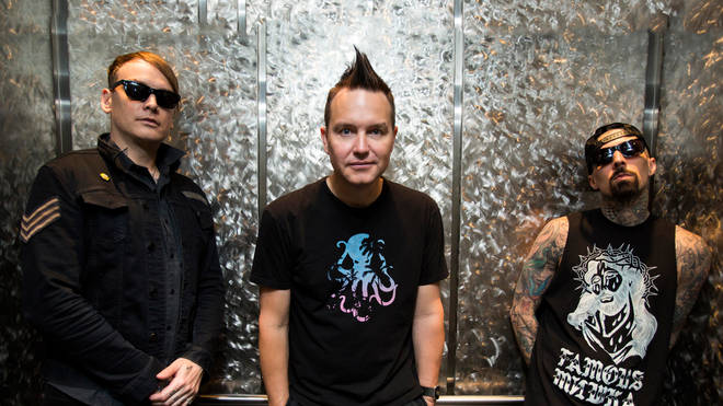 Blink 182's Matt Skiba, Mark Hoppus and Travis Barker