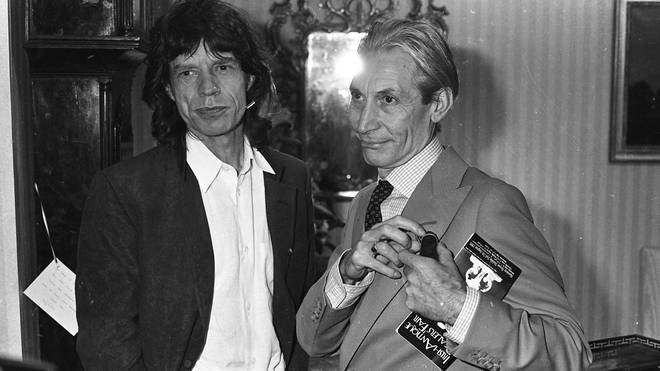 Mick Jagger and Charlie Watts in happier times, 1993