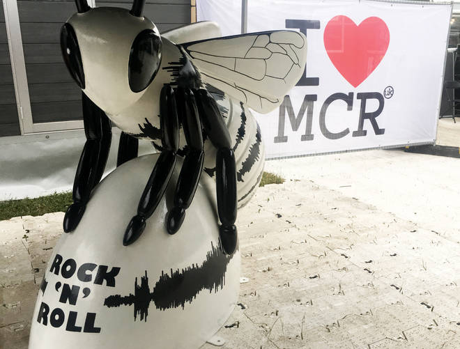 Liam Gallagher's Rock 'N' Roll Bee Sculpture