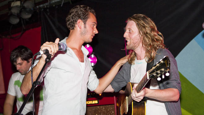 Tom Smith of Editors and Andy Burrows perform at The 100 Club in September 2010