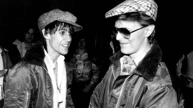 Iggy Pop and David Bowie during the Idiot tour in 1977
