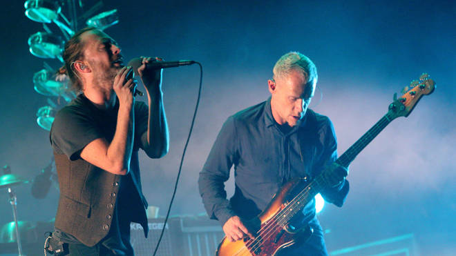 Thom Yorke and Flea perform as Atoms For Peace, 2013