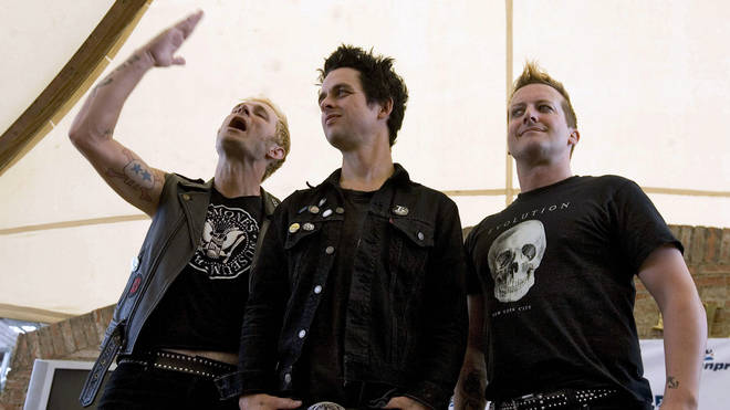 Green Day in 2010: Mike Dirnt, Billie Joe Armstrong and Tre Cool