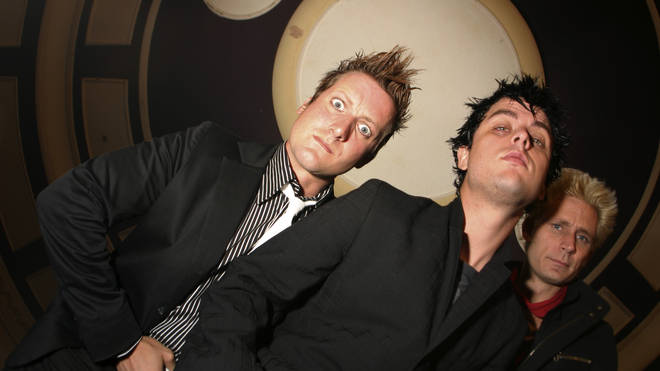 Green Day in 2004: Tre Cool, Billie Joe Armstrong and Mike Dirnt