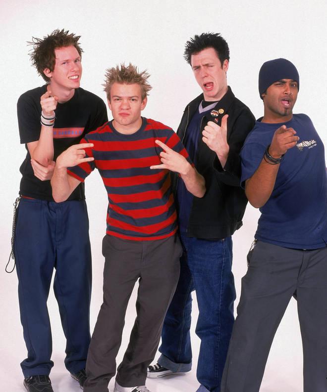 Sum 41 in 2003: Cone McCaslin, Deryck Whibley, Steve Jocz, Dave Baksh