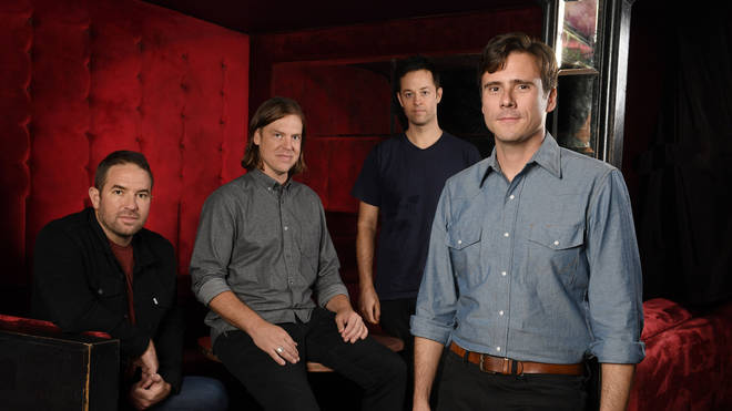 Jimmy Eat World in 2016: Zach Lind, Rick Burch, Tom Linton and Jim Adkins.