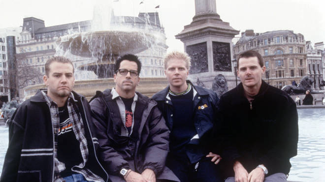 The Offspring in London, 1998: Dexter Holland, Noodles Ron Welty and Greg K