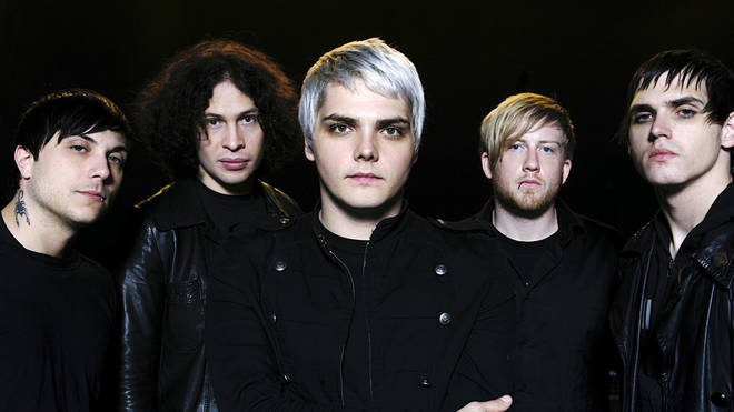 My Chemical Romance in October 2006: Gerard Way, Ray Toro, Frank Iero, Mikey Way and Bob Bryar