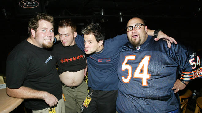 Bowling For Soup in 2002: Gary Wiseman, Erik Chandler, Jaret Reddick and Chris Burney.