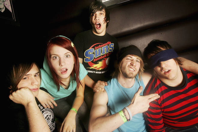 Josh Farro, Hayley Williams, Hunter Lamb, Jeremy Davis and Zac Farro of Paramore, 2006