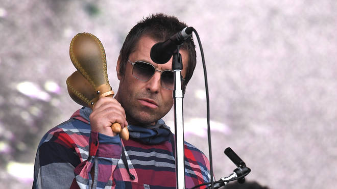 Liam Gallagher onstage at Glastonbury 2019
