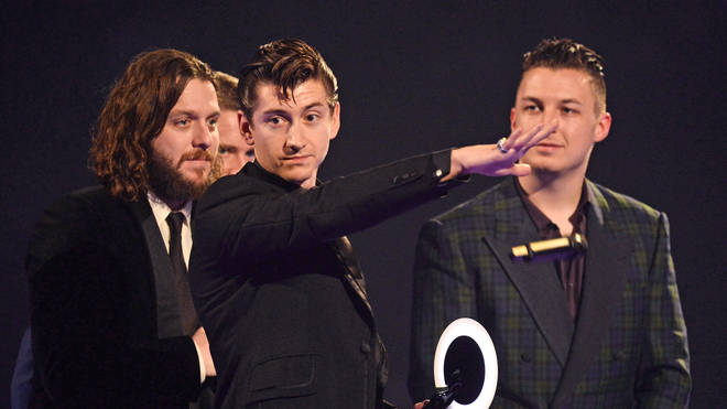 Arctic Monkeys at the Brit Awards February 2014