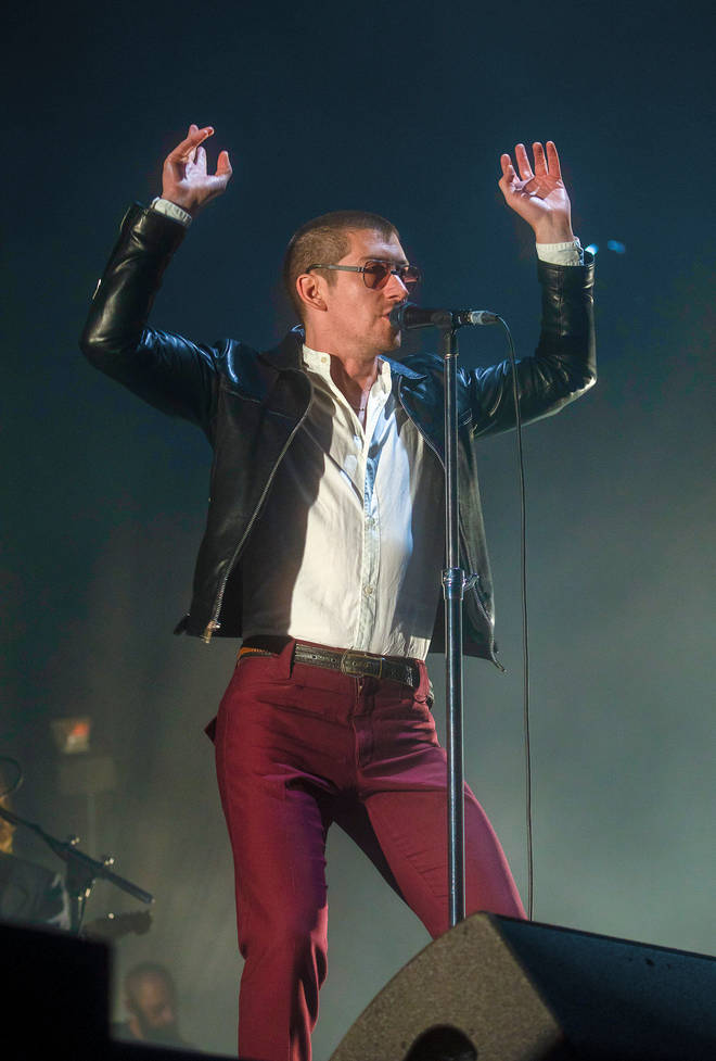 Alex Turner performing with Arctic Monkeys at Flow Festival in FInland, 2018