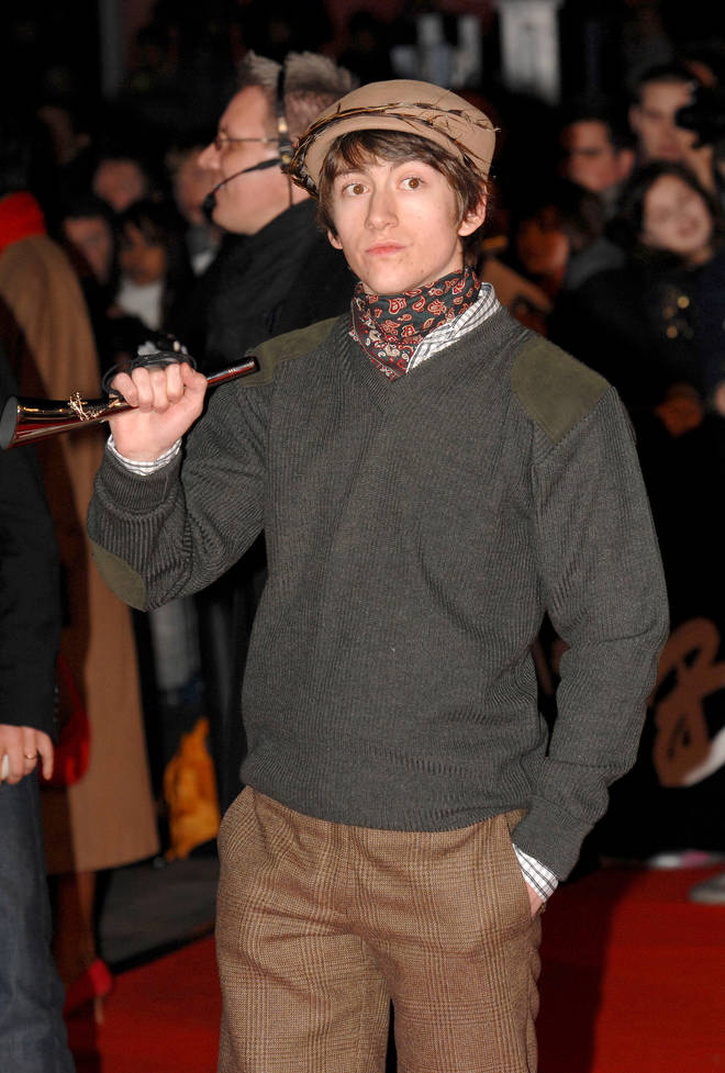 Alex Turner arrives at the BRIT Awards in 2008