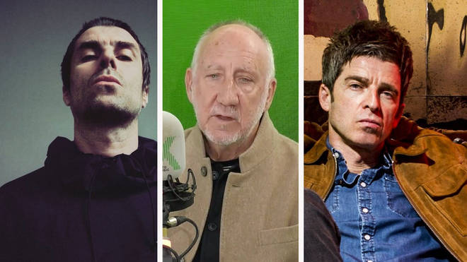 Liam Gallagher, The Who's Pete Townshend and Noel Gallagher