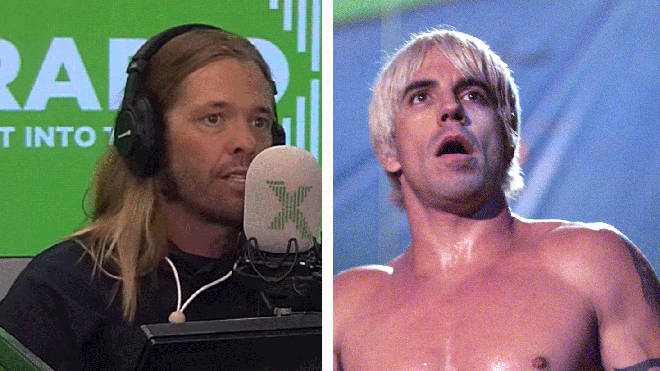 Foo Fighters drummer Taylor Hawkins and Red Hot Chili Peppers frontman Anthony Kiedis