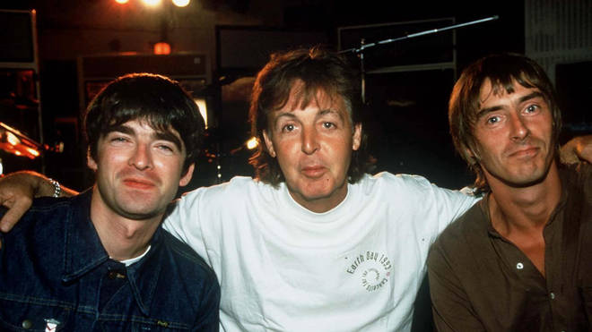 Noel Gallagher with Paul Mccartney and Paul Weller