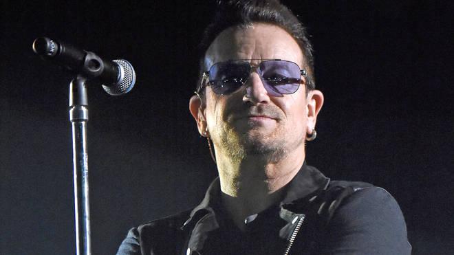 Bono of U2 performs at the MTV EMA's 2014