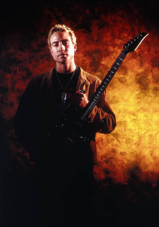 The Prodigy's guitarist Jim Davies in 1990