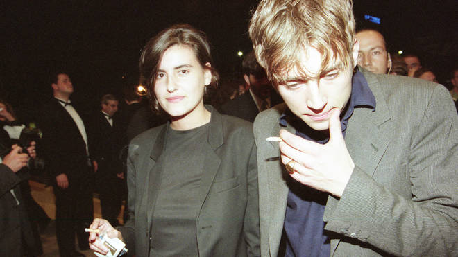 Justine Frischmann and Damon Albarn at a screening of Trainspotting at Cannes in 1996