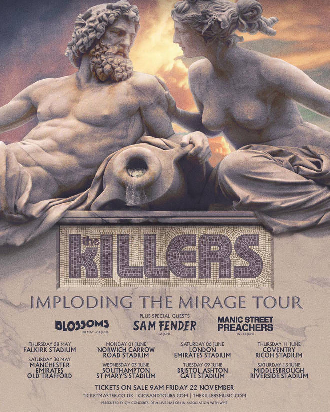 The Killers announce Imploding The Mirage Tour