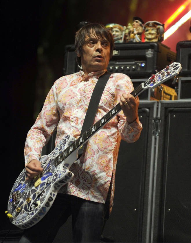 Mani performing with The Stone Roses at Coachella, 2013