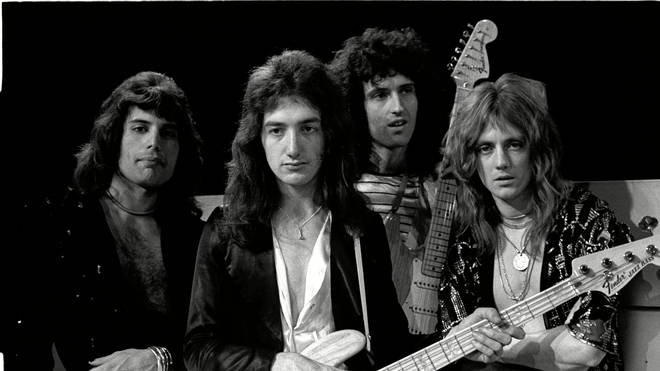 Queen in 1974: Freddie Mercury, Roger Taylor, Brian May and John Deacon