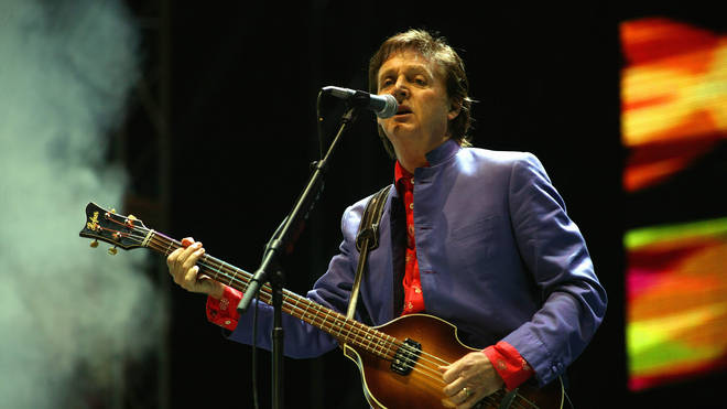 Paul McCartney at Glastonbury 2004