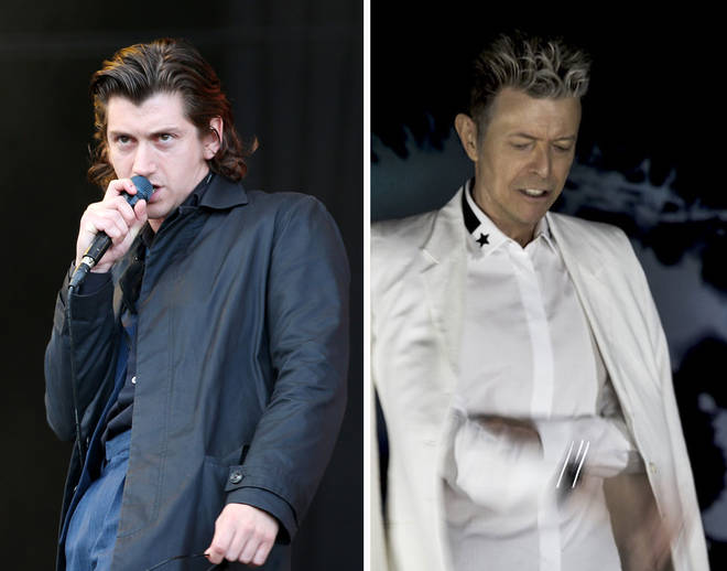Arctic Monkeys' Alex Turner and David Bowie