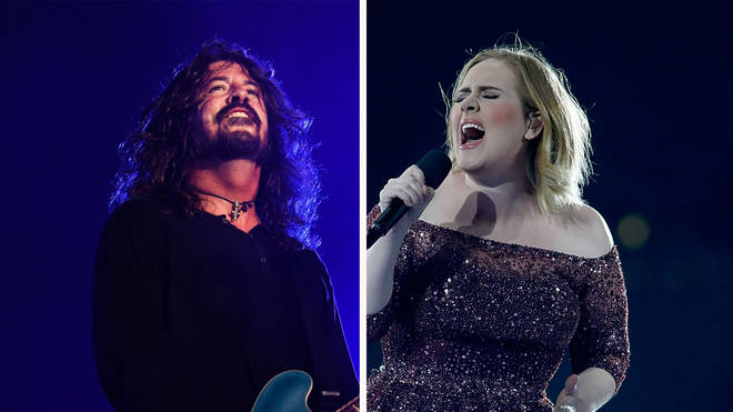 Dave Grohl and Adele
