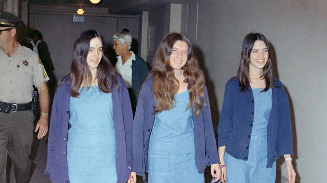 Charles Manson followers, from left: Susan Atkins, Patricia Krenwinkel and Leslie Van Houten, shown walking to court to appear for their roles in the 1969 cult killings of seven people