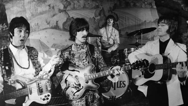 The Beatles film the video to Hello Goodbye in November 1967